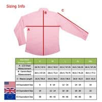 Grenouille Ladies Long Sleeve Pink Gingham Check Easy Care Cotton Shirt
